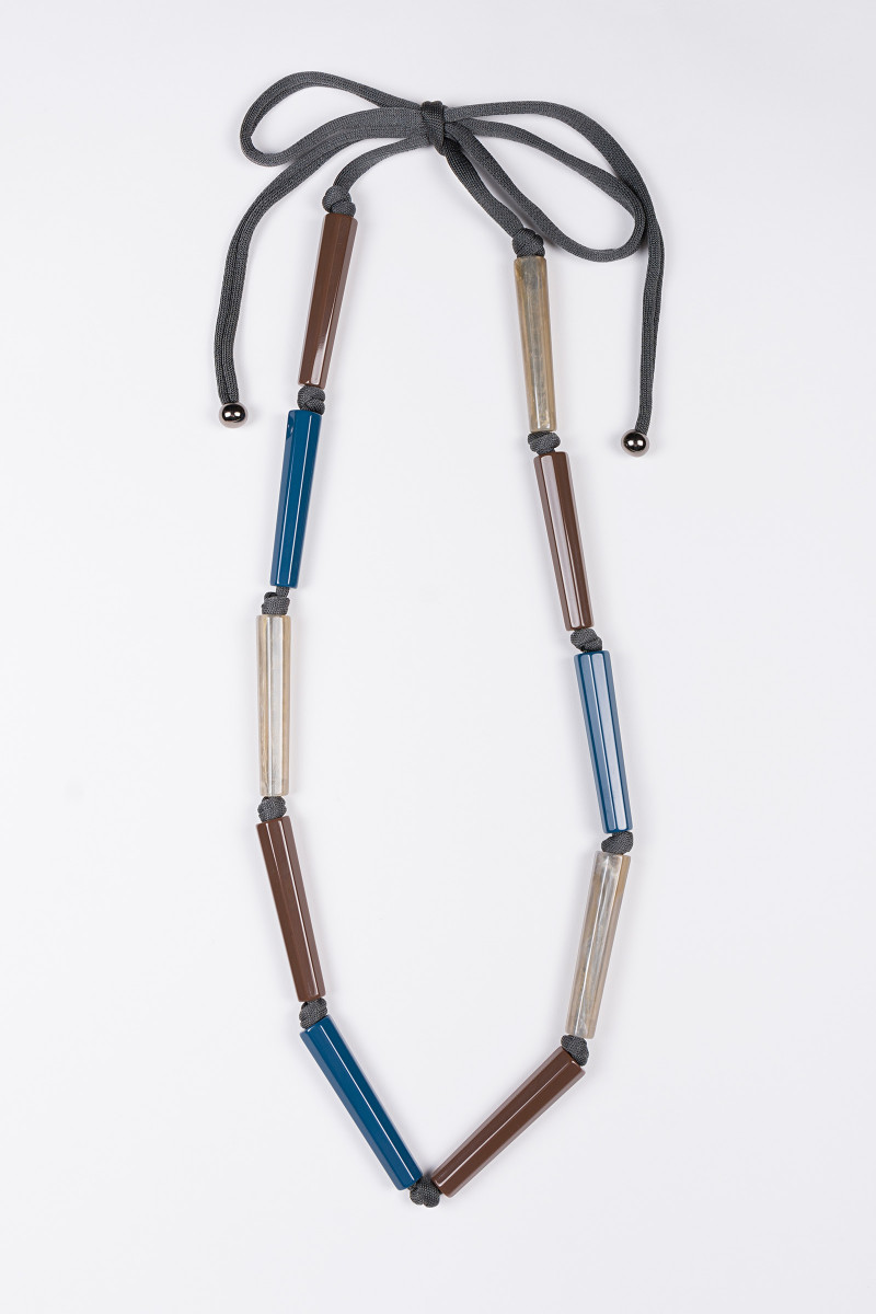 Gray Methacrylate Tubes Necklace cover