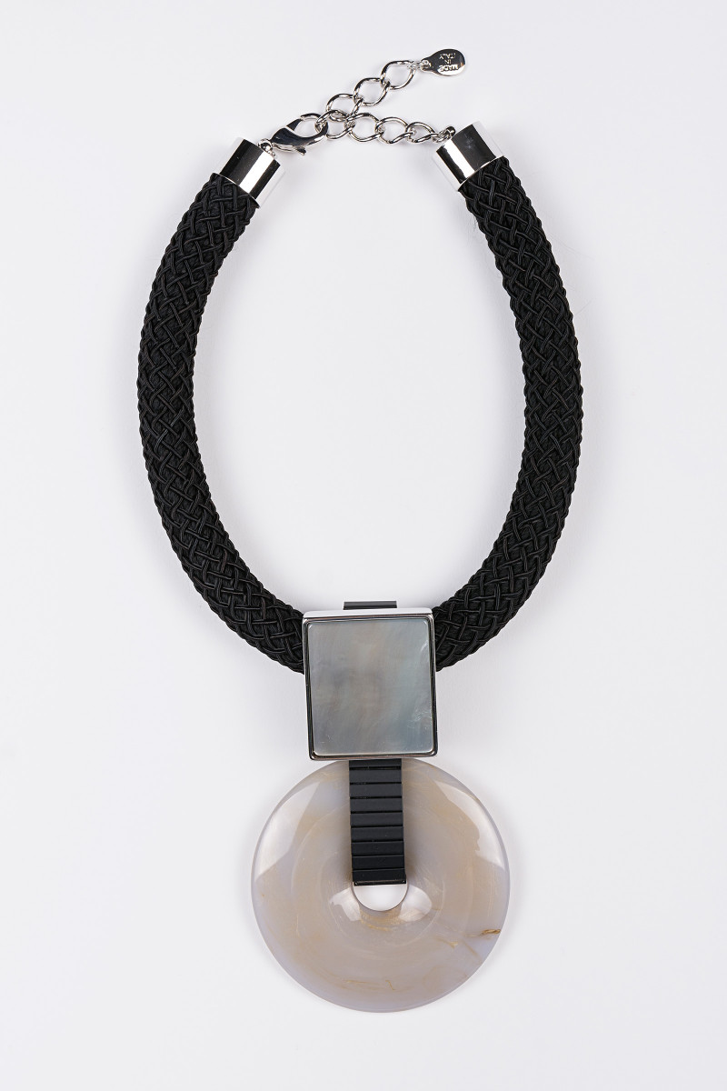 Gray Circumference Necklace cover