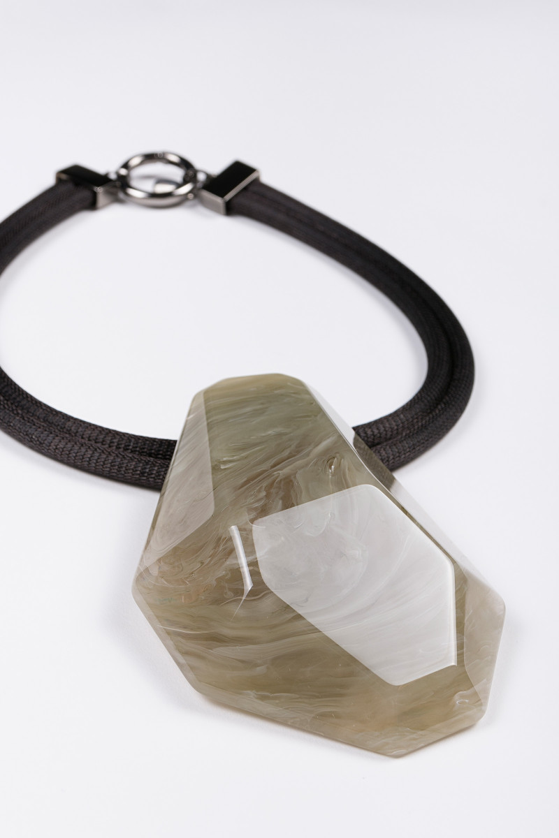 Khaki Stone Necklace cover