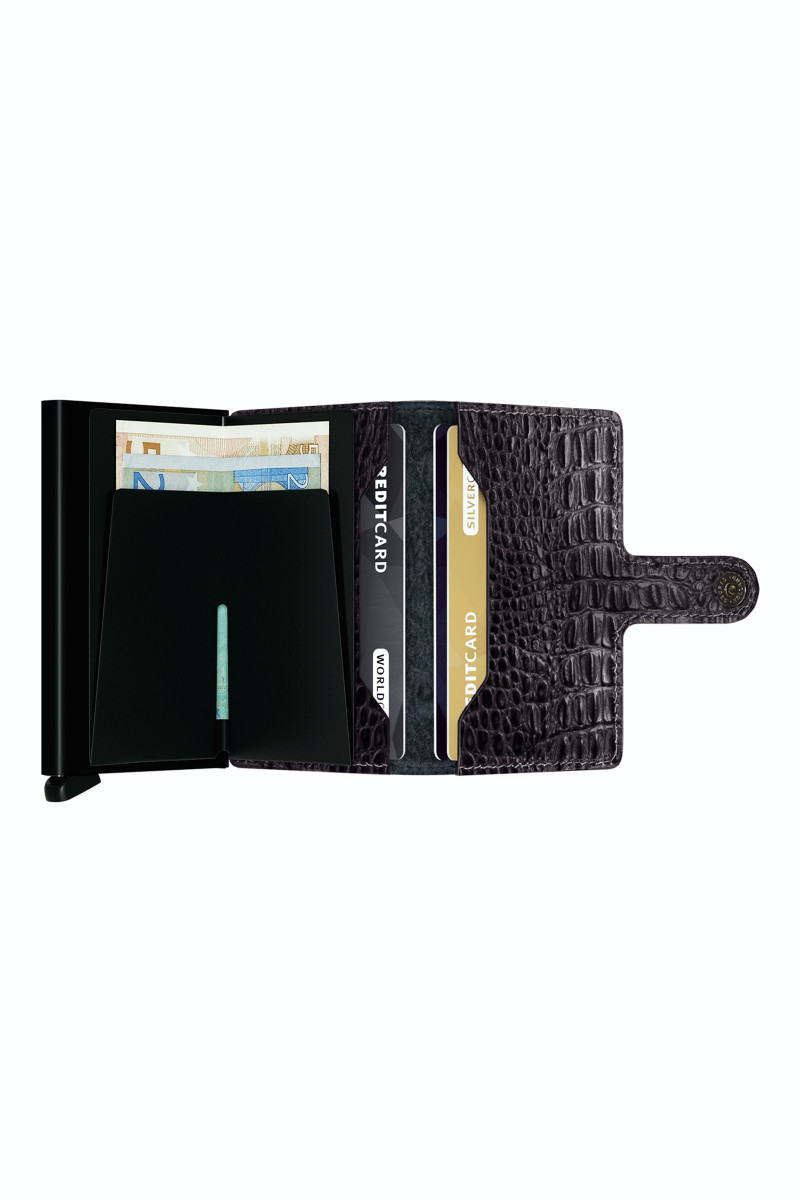 Black Coco Leather Card Holder cover