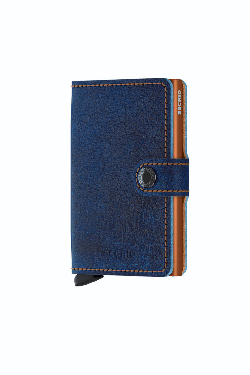 Denim Blue Leather Card Holder cover