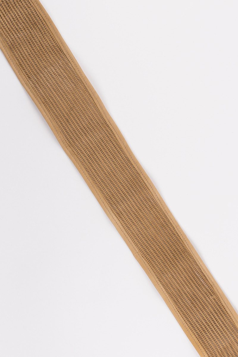 Beige Leather Sash cover