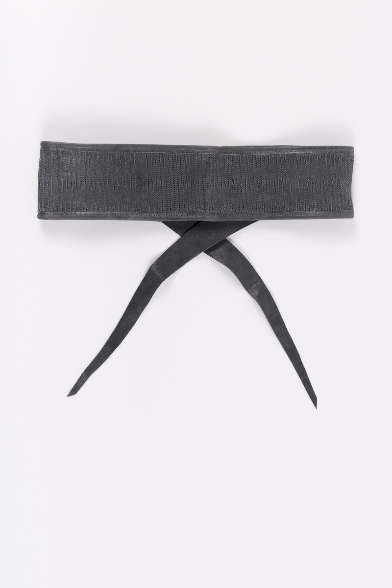 Grey Leather Sash cover