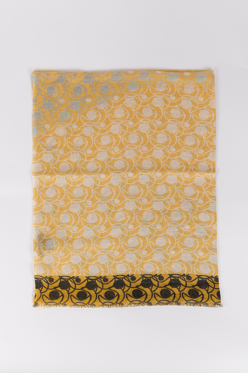 Yellow Printed Scarf cover
