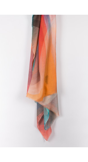 Vibrant Colors Light Scarf front
