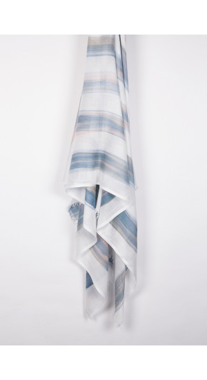 Blue-White Stripes Scarf cover