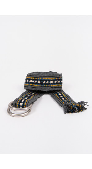 Grey Ethnic Belt cover