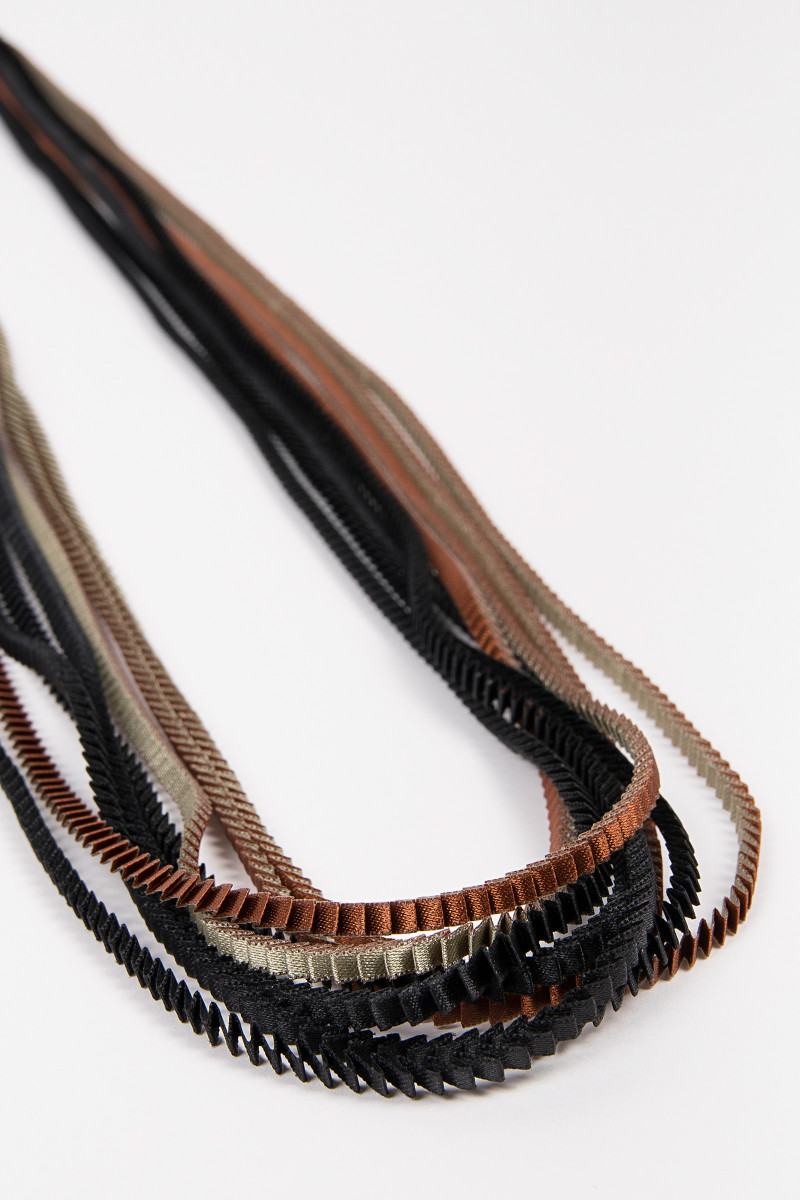 Brown Tricolor Plated Necklace cover
