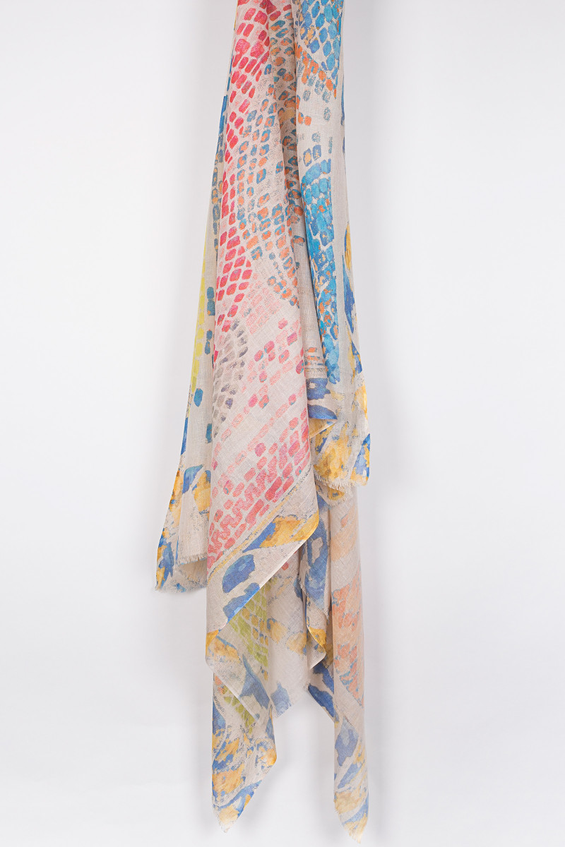 Multicolor Mosaic Scarf cover