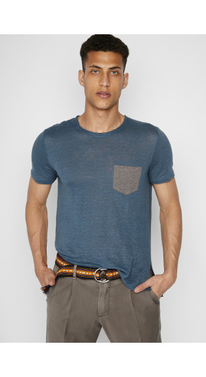 Denim Blue Linen T-Shirt cover