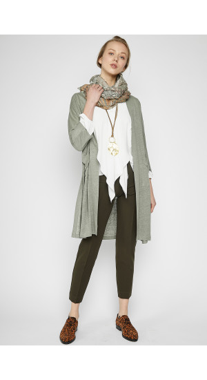 Green Long Cardigan cover