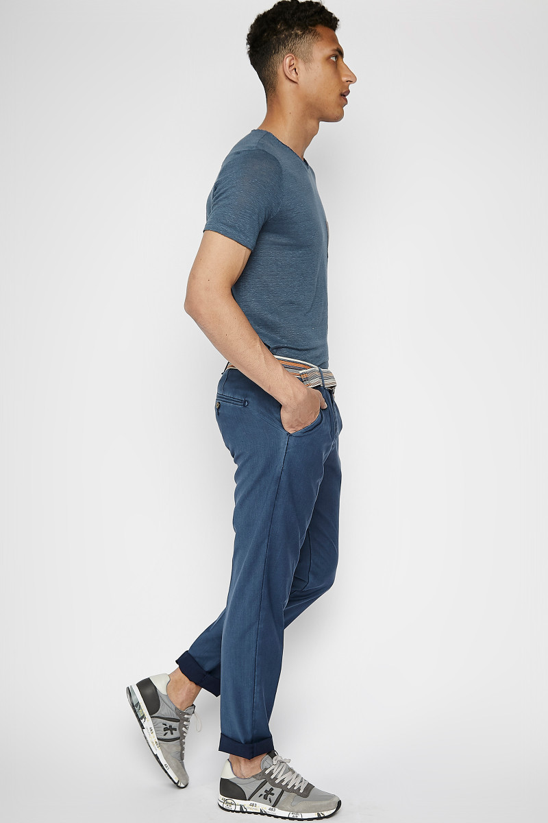 Denim Blue Cold Wool Trousers cover
