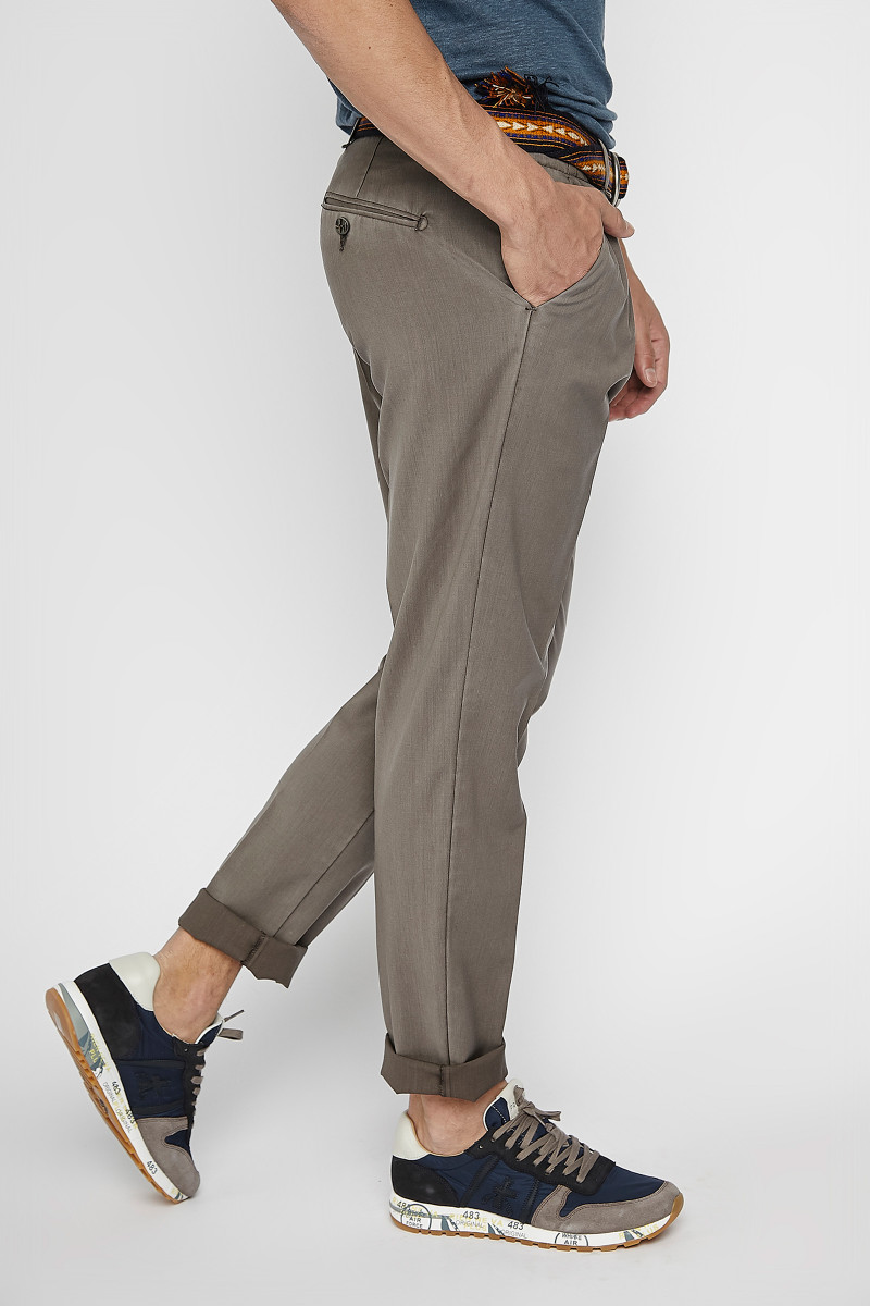 Khaki Cold Wool Trousers cover