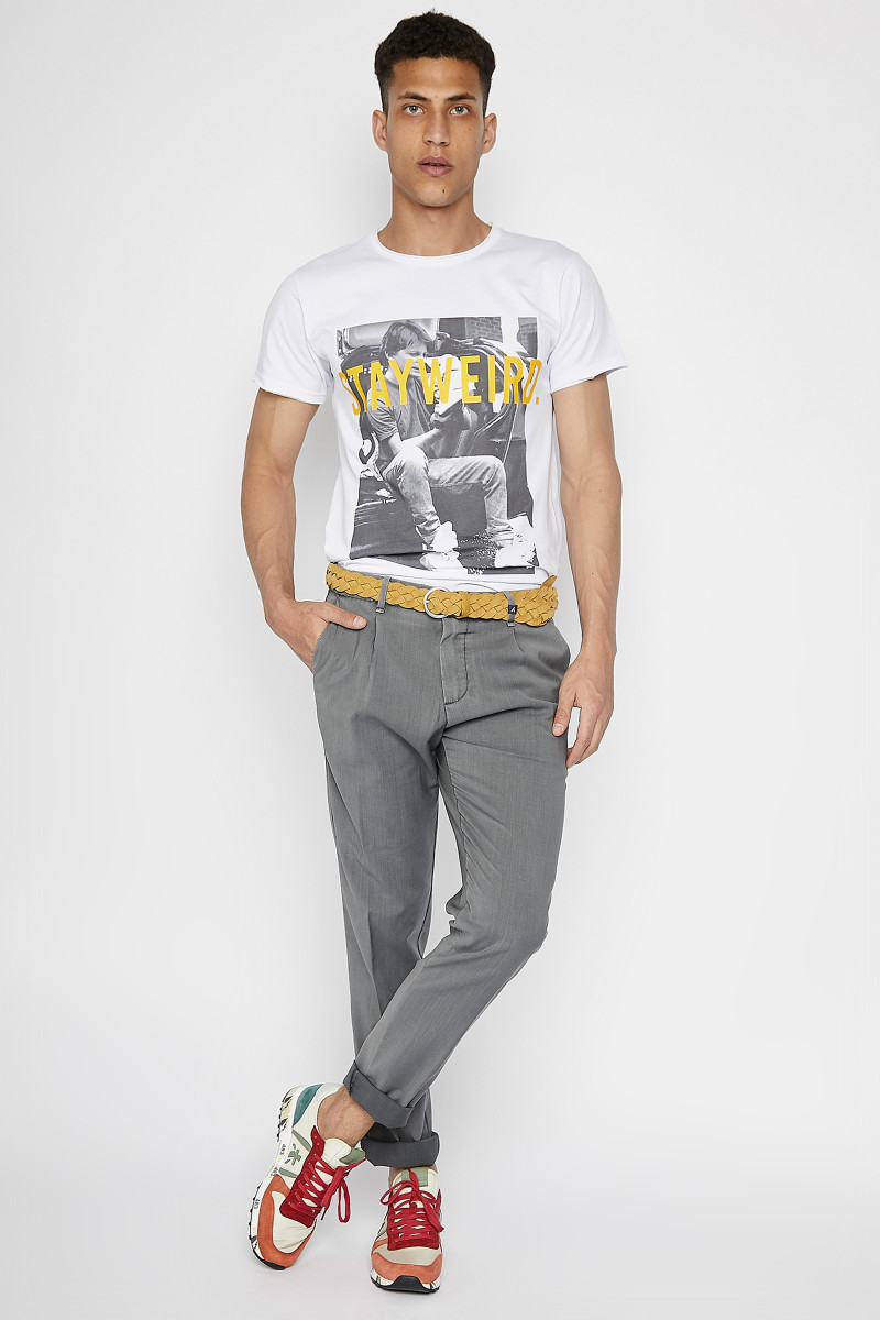 Grey Cold Wool Trousers cover