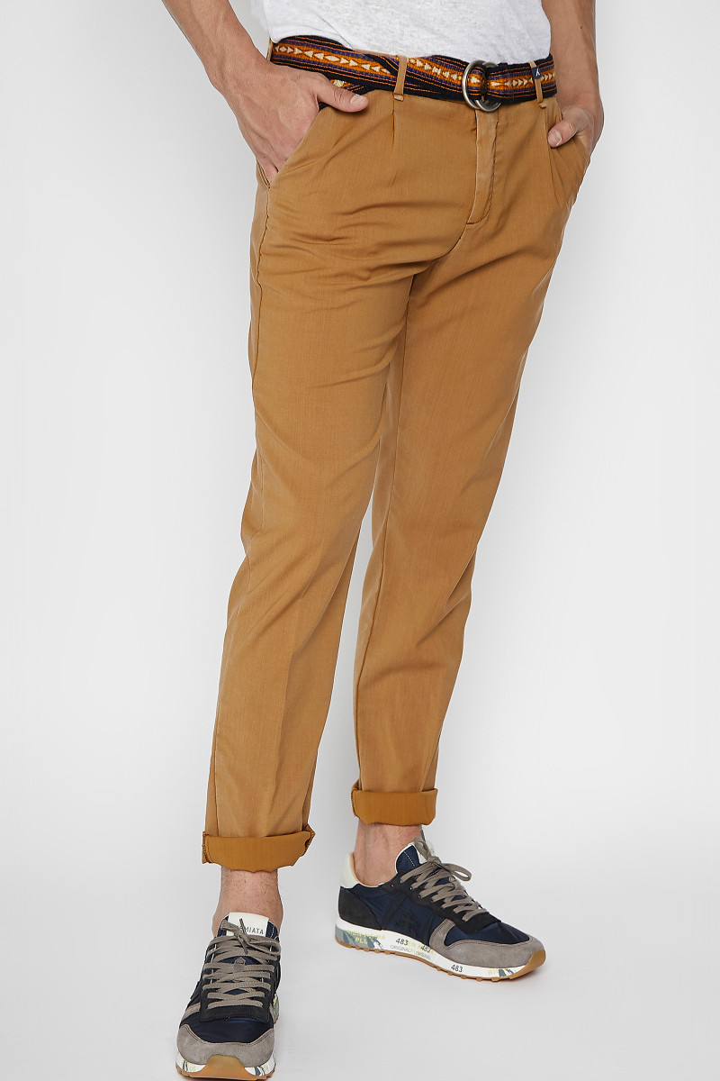 Clay Color Cold Wool Trousers cover
