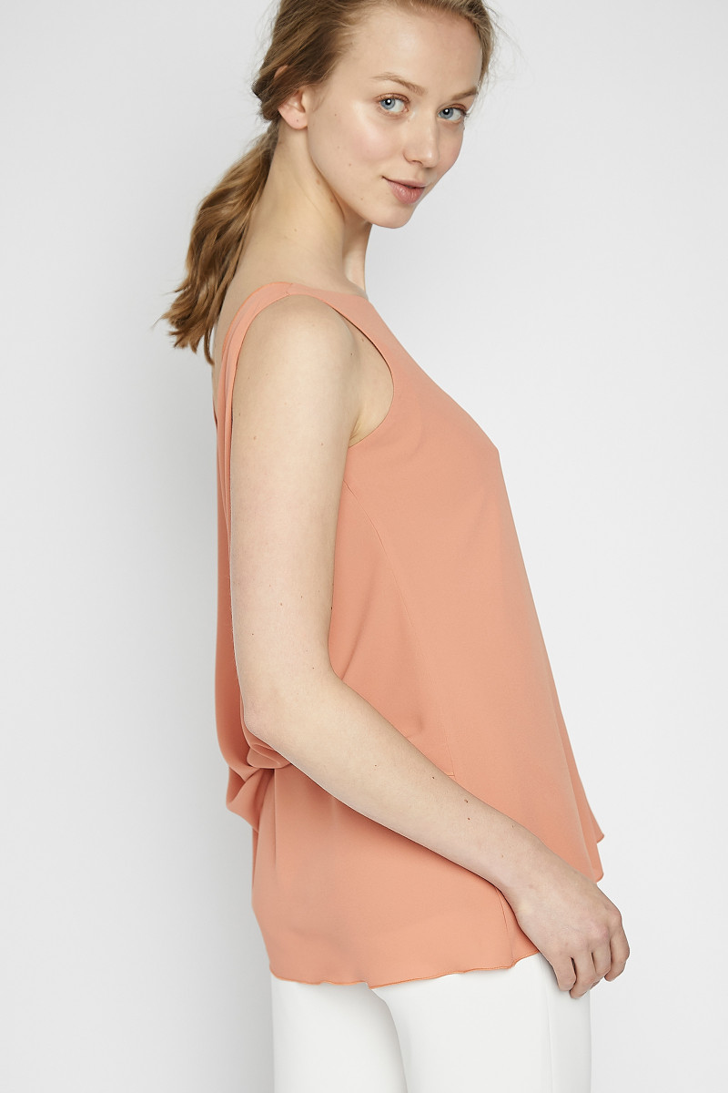 Peach Color Crossed Top cover