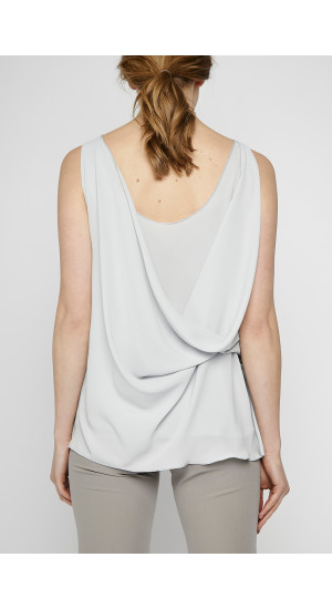 Light Gray Crossed Top cover