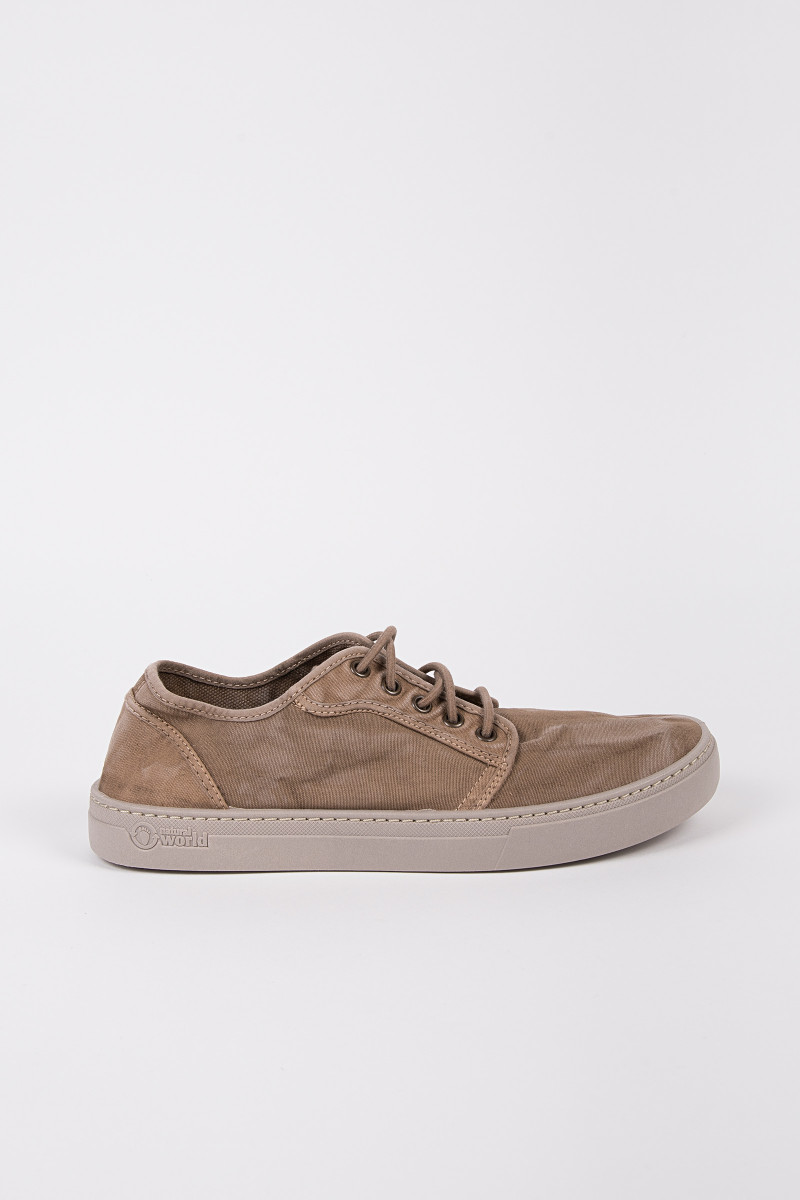 Beige Canvas Casual Sneakers cover