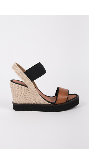 Brown High Wedge Sandals cover