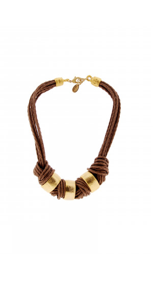 Golden-Brown Knots Necklace cover