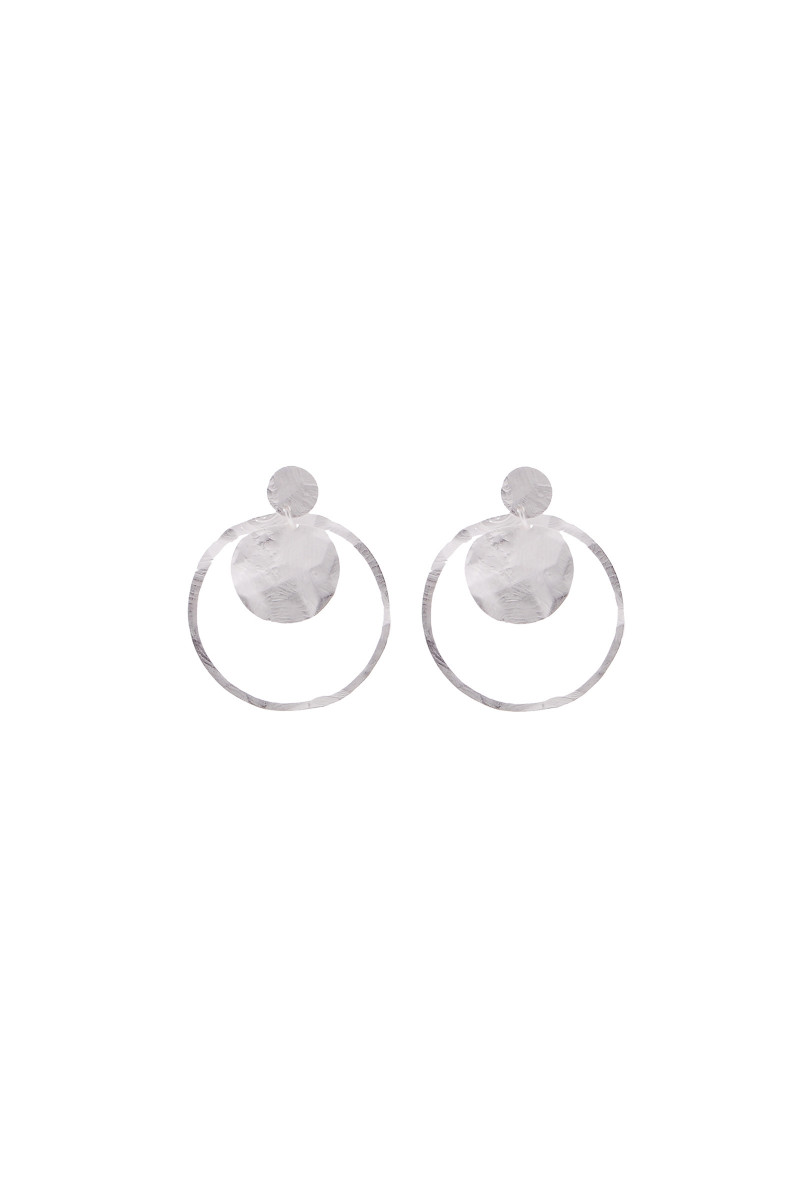 Silvered Circle Earrings cover