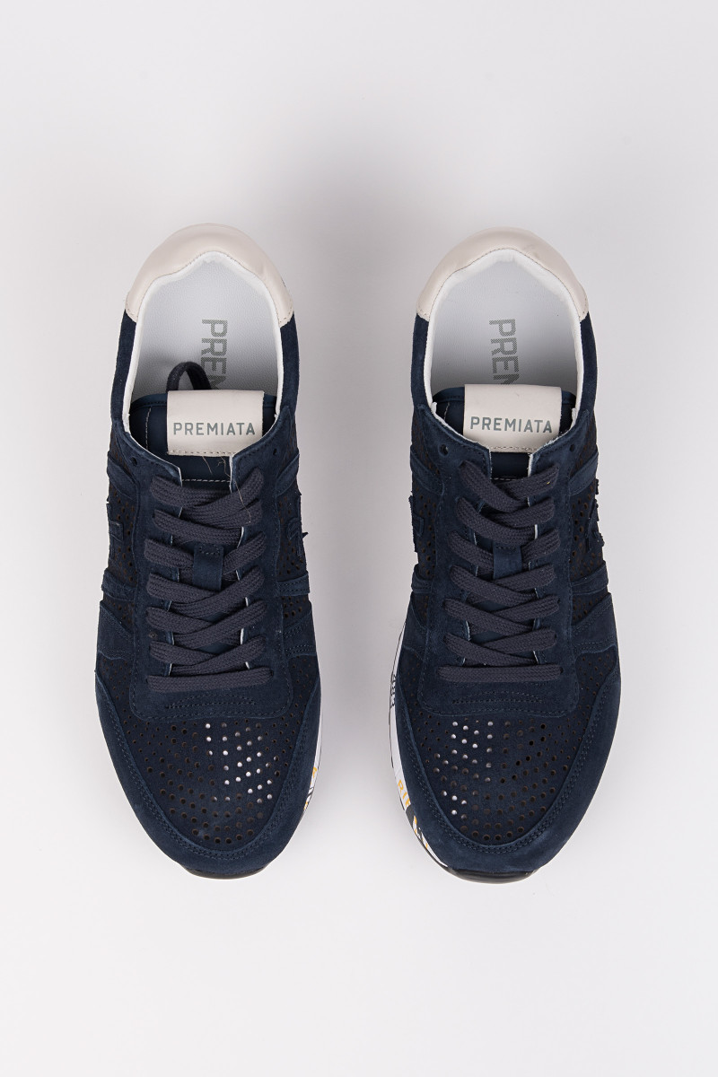 Perforated Navy Blue Sneakers cover
