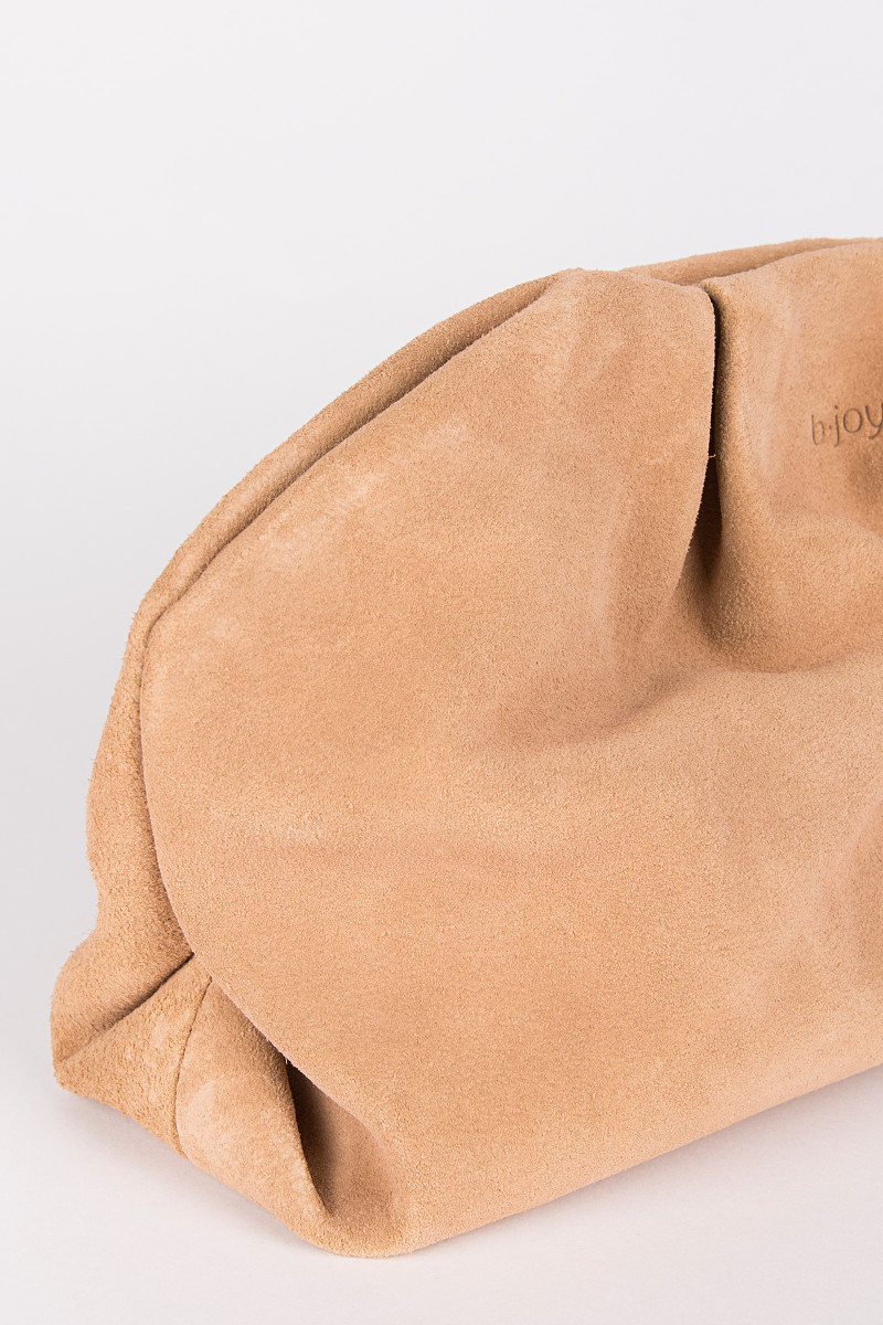 Camel Suede Clutch cover