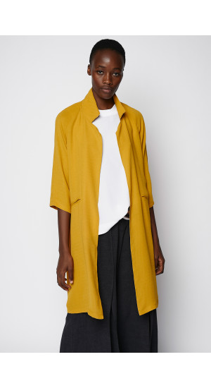 Mustard Color Linen Jacket