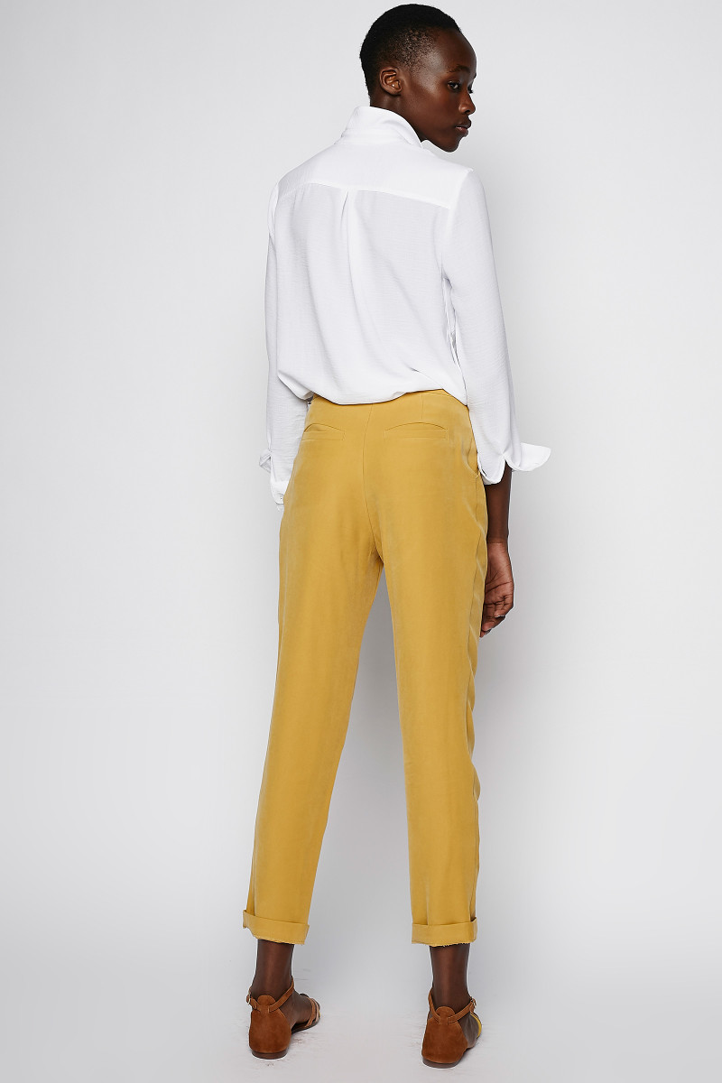 Mustard Pleated Trousers