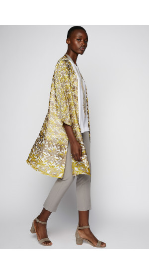 Lemon-Taupe Color Frock-Coat