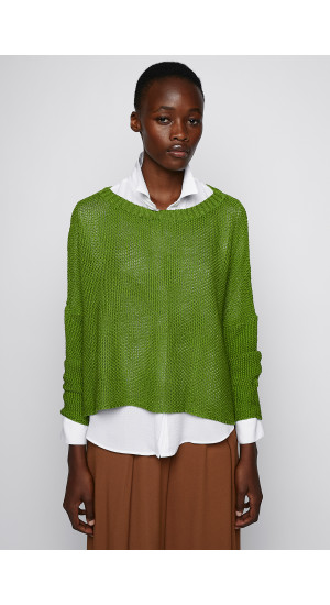 Intense Green Knit Sweater cover
