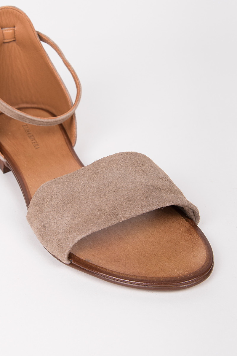 Taupe Suede Flat Sandal cover