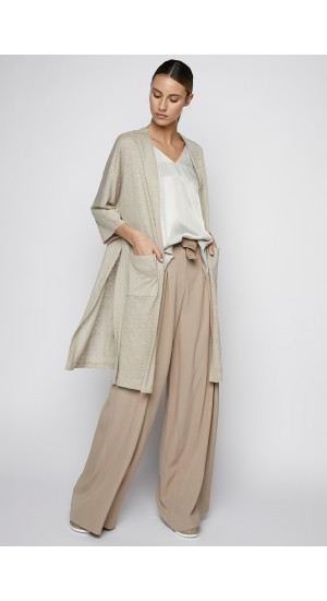 Stone Colored Linen Frock-Coat cover