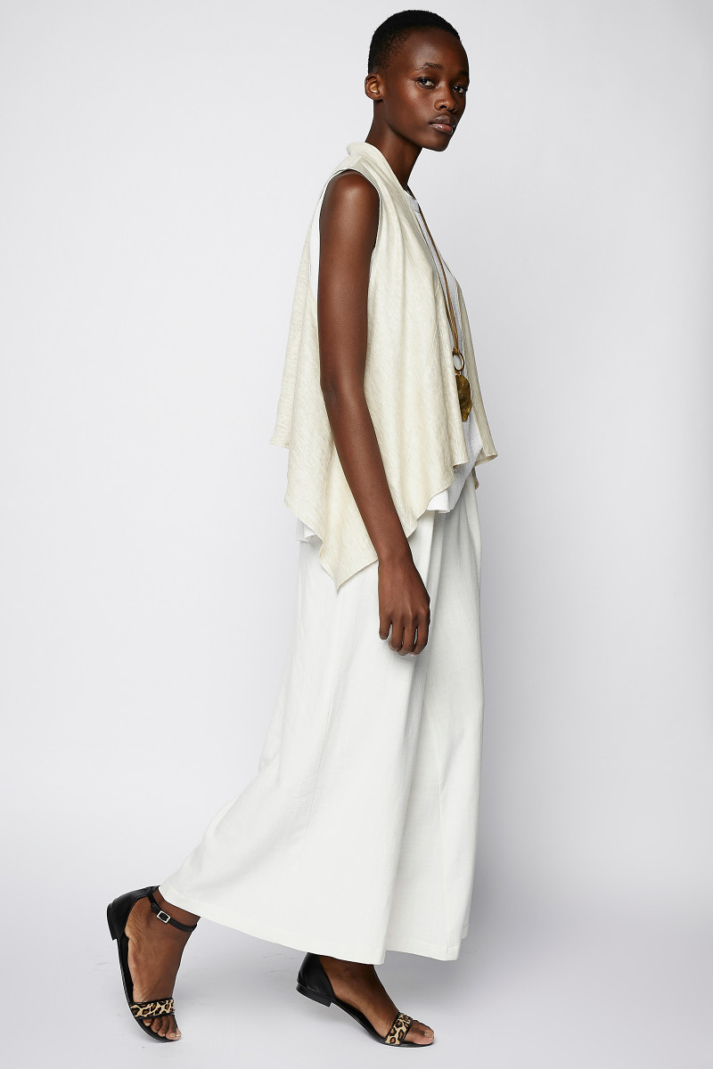 Ivory Colored Linen Vest cover