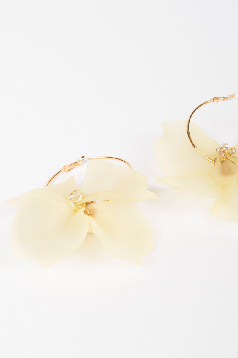 Light Yellow Flower Earrings Elisa & Eduardo Rivera