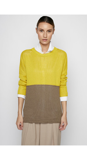 Bicolor Sweater front