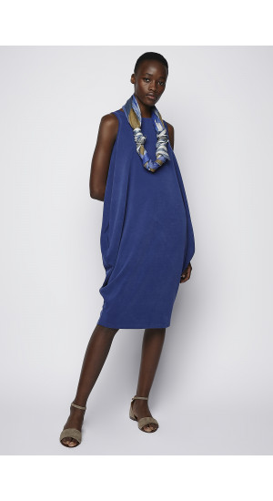 Royal Blue Baloon Dress cover