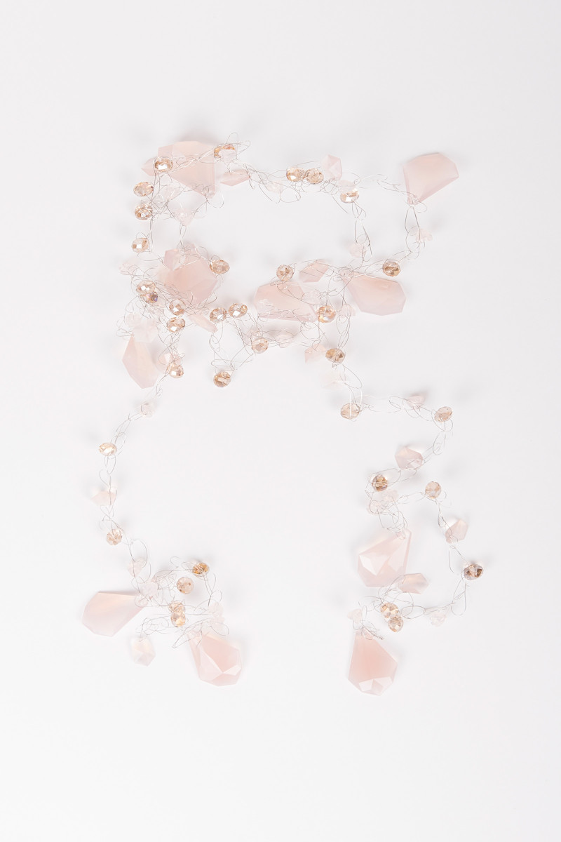 Pink Crystal Petals Necklace cover