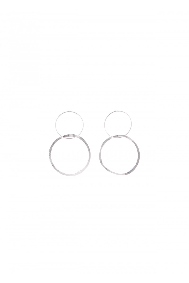 Double Silver Earrings cover