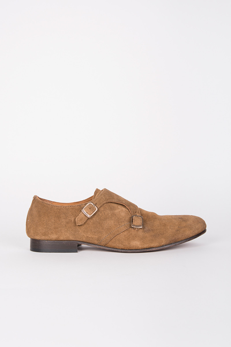 Brown Suede Mastaba Shoes cover