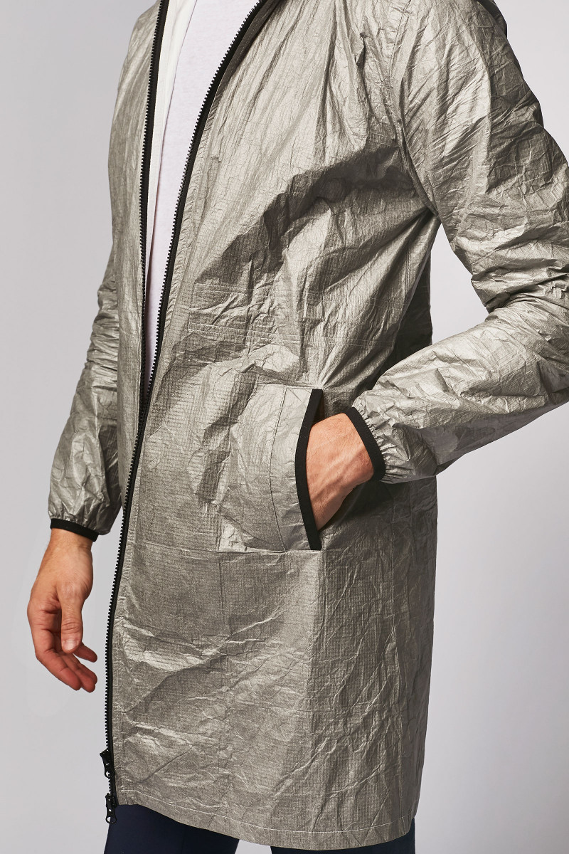 Grey Unisex Waterproof Jacket cover