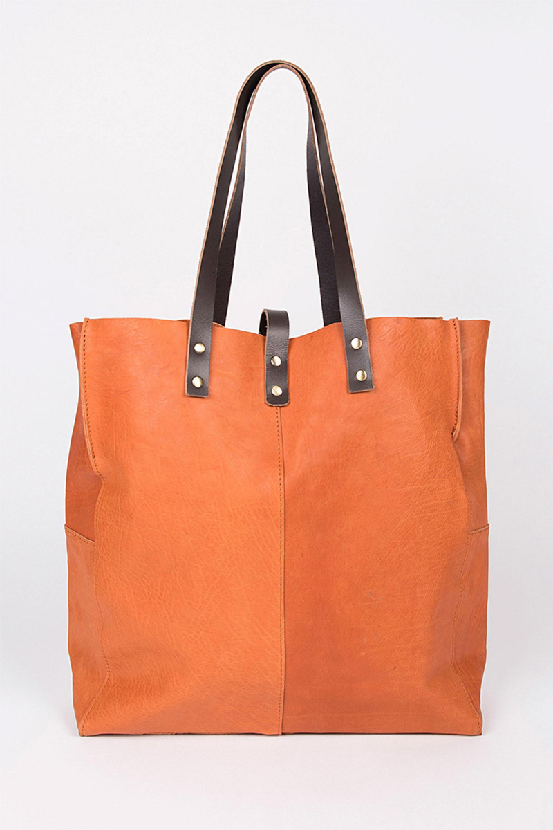 Orange Shopper Bag
