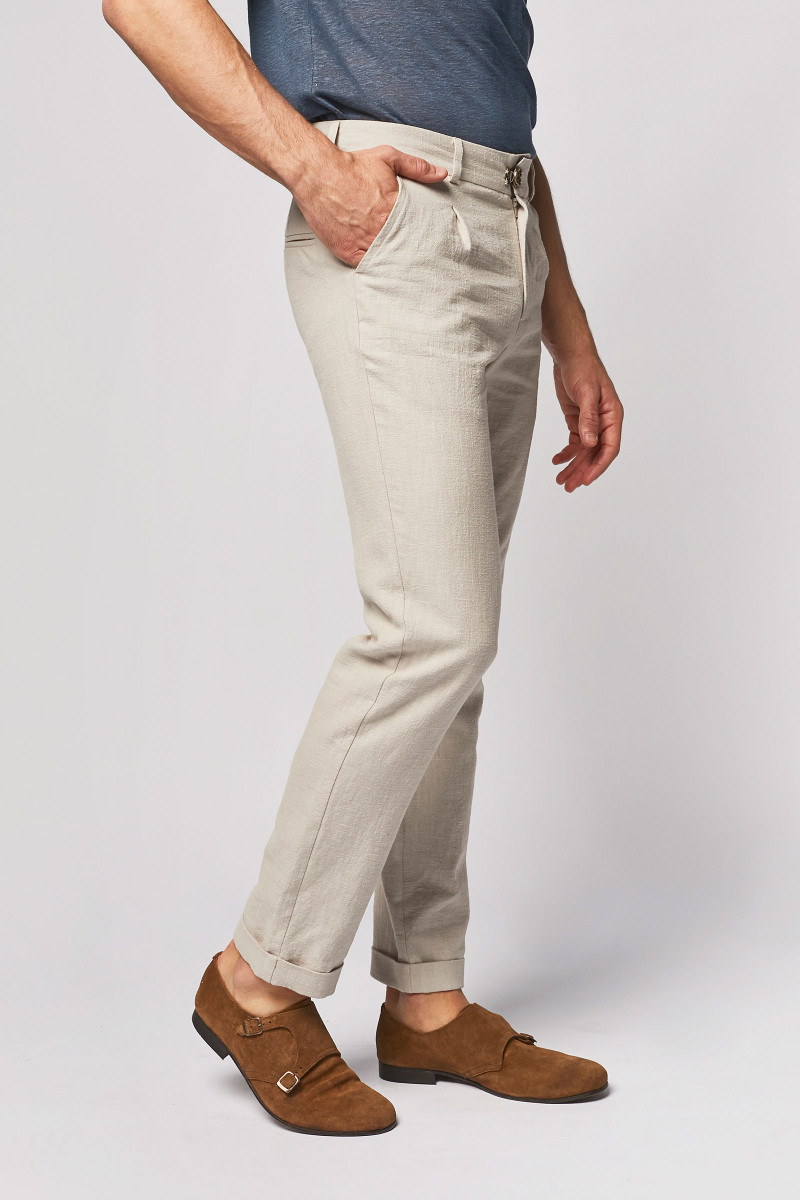 Ivory Linen Trousers cover