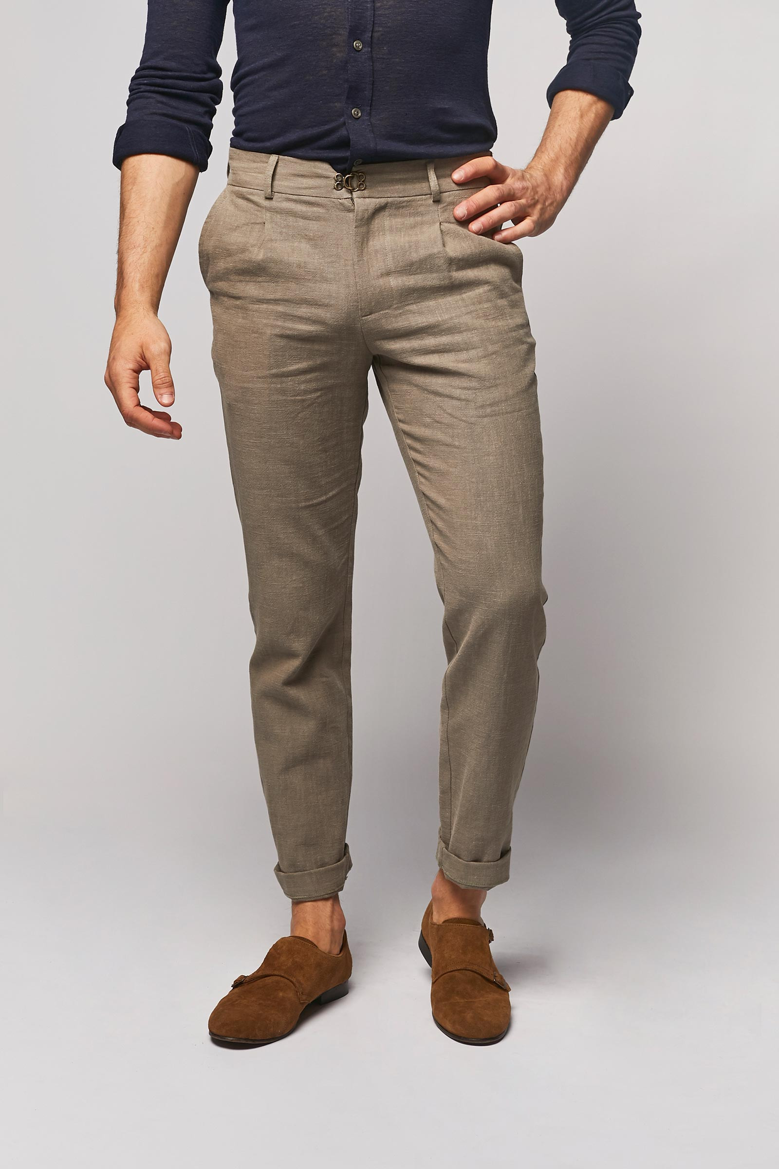 Light Brown Linen Trousers cover