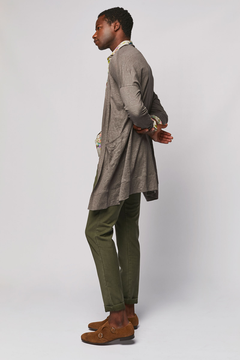 Taupe Long Linen Jacket cover