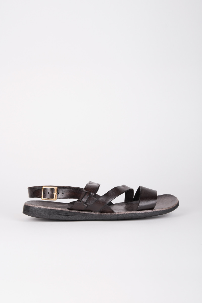 Dark Brown Leather Sandals cover