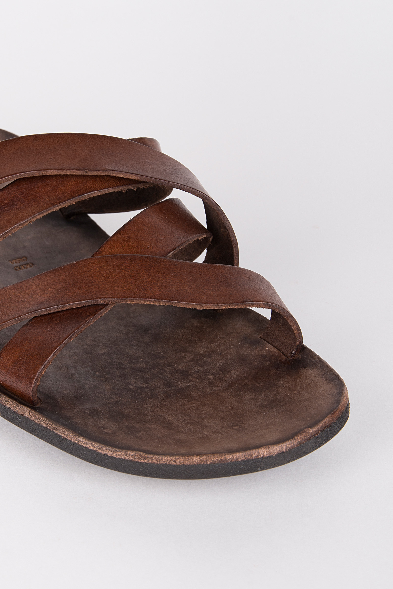 Brown Leather Sandals detail
