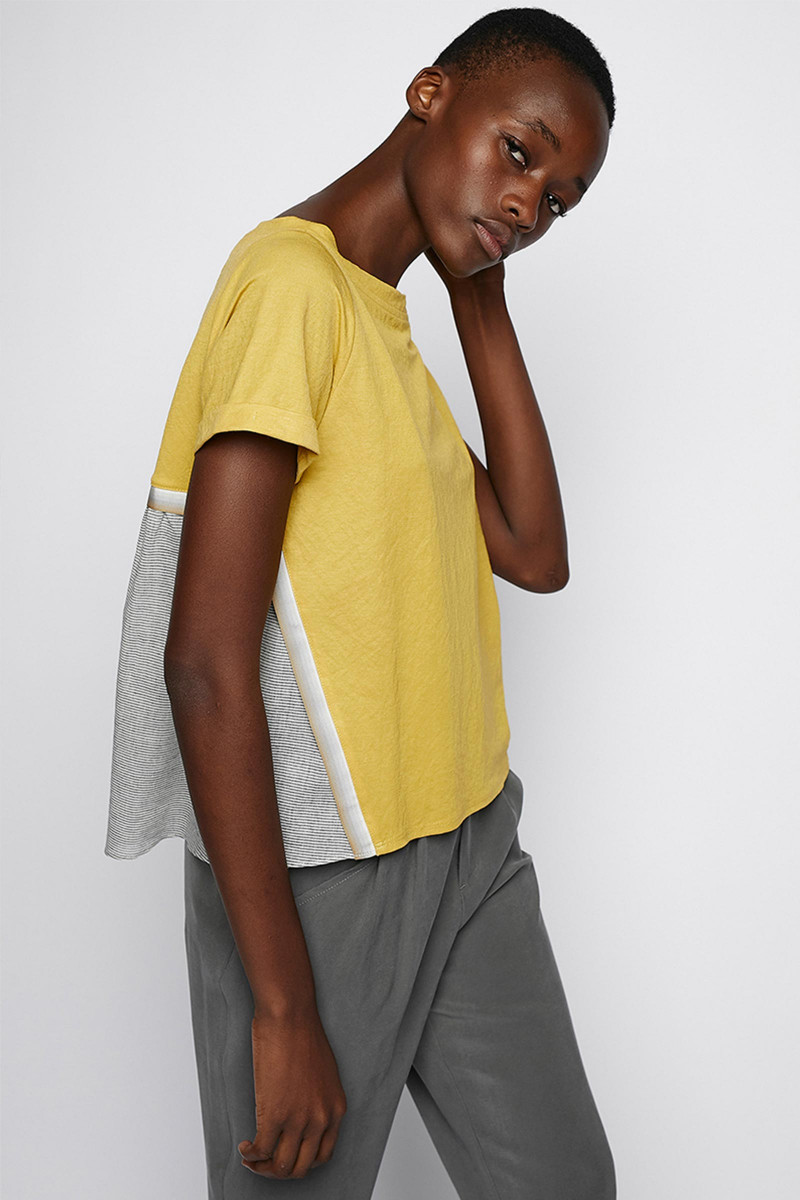 Two-toned yellow t-shirt