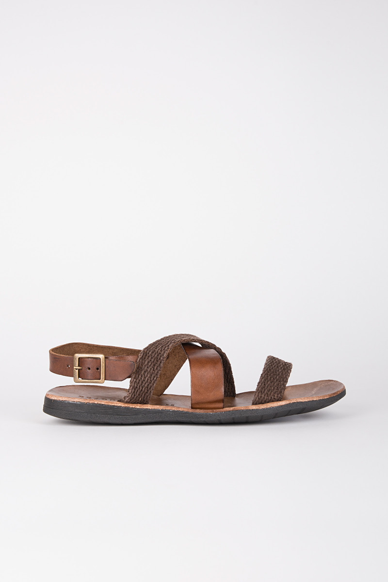 Brown Leather-Rope Sandals cover