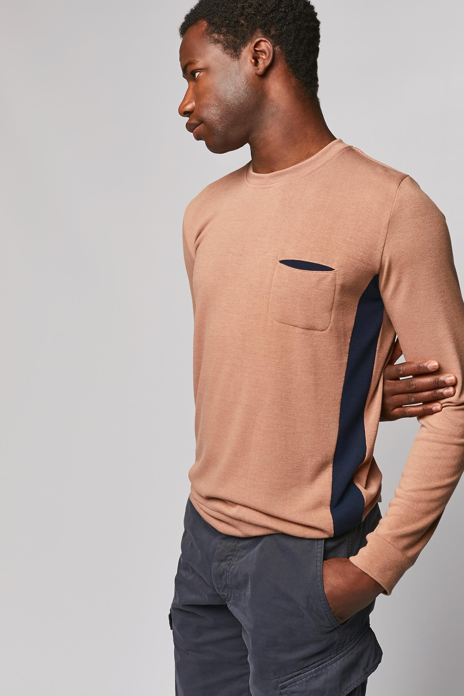 Aged Pink Pullover side